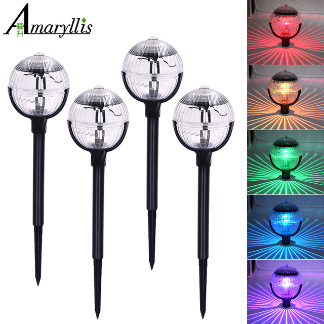 Solar Buried Light 7 Color Changing Security Lamp Durable Garden Ground Yard Lights Eco Friendly Ip65 Waterproof