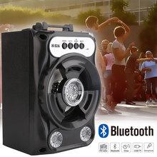 Большой размер Bluetooth динамик беспроводная звуковая система бас стерео с светодиодный подсветкой Поддержка TF карты FM радио Спорт на открытом воздухе путешествия