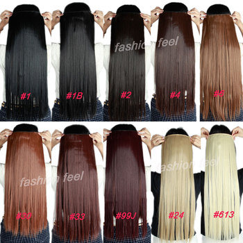 S-noilite Fall to waist 46-76 CM Longest Clip in for human Hair Extensions One Piece Real Natural Thick Synthetic hair Extention 2