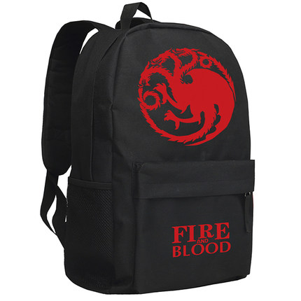 Game of Thrones Backpack Fashion A Song of Ice and Fire Luminous Oxford SchoolBag Unisex цена