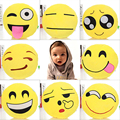 Buy One Get One Fashion Soft Emoji Pillow Smiley Emoticon Round Pillow And Cushion Stuffed Plush Toy Doll products