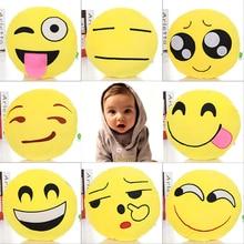 Compre Uno y Llévese Uno de Moda Suave Almohada Emoji Smiley Emoticon Ronda Almohada Y Cojín de Peluche de Felpa Muñeca de Juguete productos
