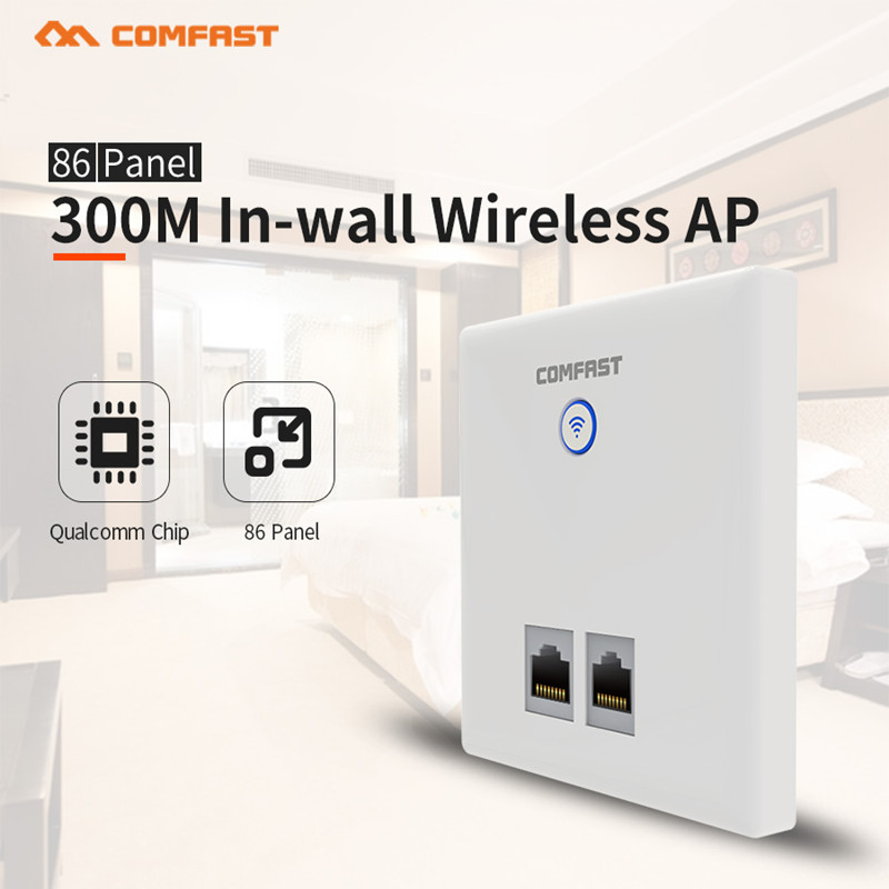 New COMFAST CF-E535N 300Mbps 2.4GHz Multifunction In wall Wireless AP Router with RJ45 port support 48V POE power for Hotel Room