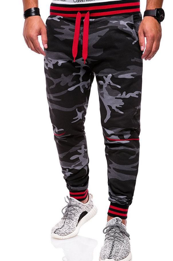 Loldeal Sports-Pants Hip-Hop Men's Camouflage Casual Drawstring Elastic-Band