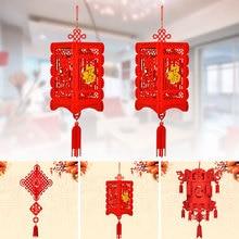 Китайский красный фонарь, китайский фонарь, 3D фонарь, украшение дома, украшения, праздничный, подвесной, традиционный