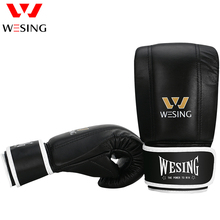 WESING Boxing Punching Bags Gloves Mitts for Athletes Training Breathable Punching Sandbags Kickboxing Martial Arts Gloves 10 Oz glove on flat punching mitts for boxing and martial arts training color assorted