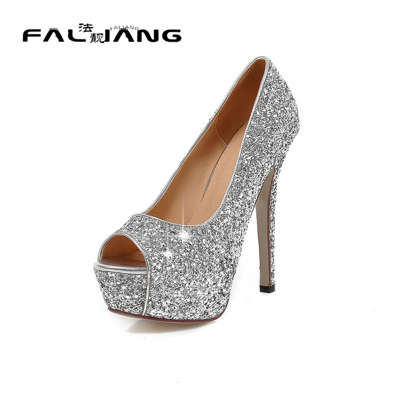 ФОТО Big Size 11 12 Sexy Peep Toe Casual Thin Heels Women's Shoes Extreme High Heels Pumps Woman For Women Platform Shoes