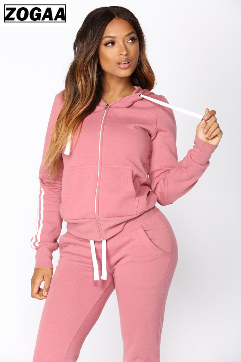 2 Pieces Women Set Letter Print Sexy Outfits For Women Skinny Tracksuit Sporty Wear Casual Women Outfits 2019 Zogaa