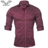 VISADA JAUNA Uomini Camicia A Maniche Lunghe casual Sociale Fit Shirt Da Uomo Slim Camicia di Cotone Plaid Solido Camisas Masculina Più Il Formato M-5XL n1144