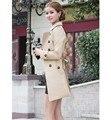 2016 spring autumn new women Trench coat long section sashes slim thin windbreaker women casual  Coat
