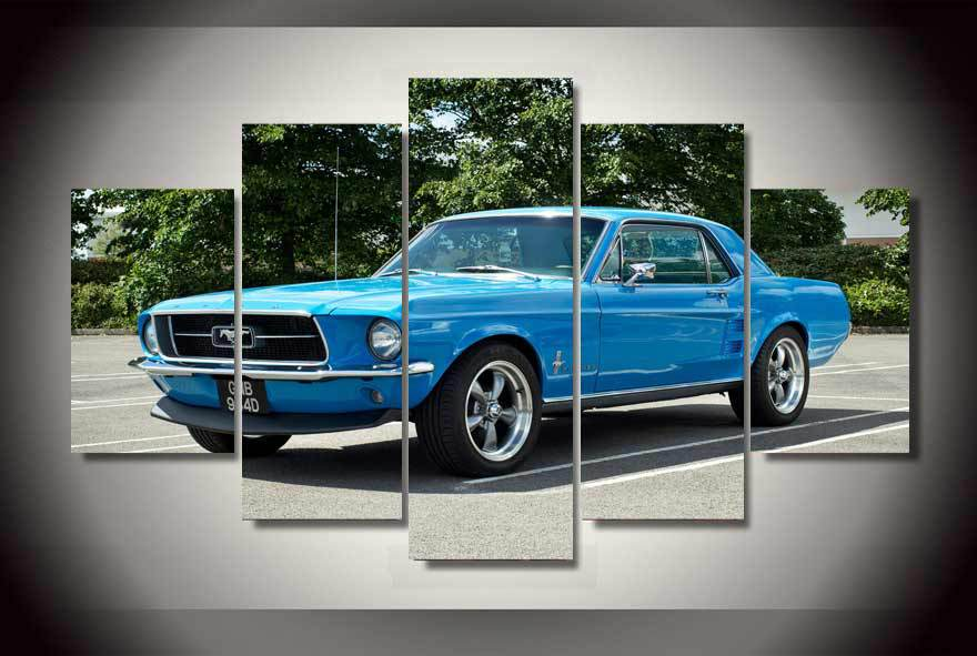 hd printed ford mustang muscle car painting on canvas room decoration print poster picture canvas free