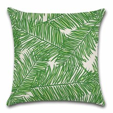 Green Palm leaf Nordic Cushion Cover Decoration for Home sofa chair seat kids children bedroom gift friend present pillow case deadpool movies comic printed cushion cover party decoration for home house sofa chair seat pillow case kids gift friend present