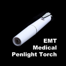 Portable Medical Flashlights White Penlights EMT Surgical Torch Lights Work Light Clip for Working Camping