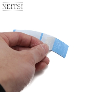 Image 5 - Neitsi 36*2 Tabs/lot Strong Blue Minis Ultra Hold Double Sided Tape Tabs For Toupees/Lace Wigs/Tape Extension Wig Adhesive Tape