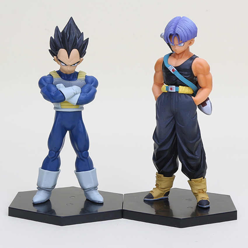 8-15cm anime dragon ball z figura troncos dragonball vegeta 1/8 escala pvc figura de ação collectible modelo brinquedos