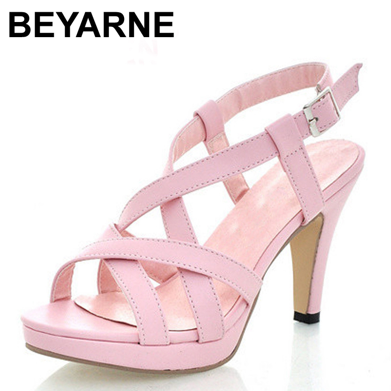 BEYARNE 2017 Fashion Women Gladiator Sandals Outdoor Casual Summer Shoes Ladies Female Open Toe Platform Shoes Woman Sandals phyanic 2017 gladiator sandals gold silver shoes woman summer platform wedges glitters creepers casual women shoes phy3323
