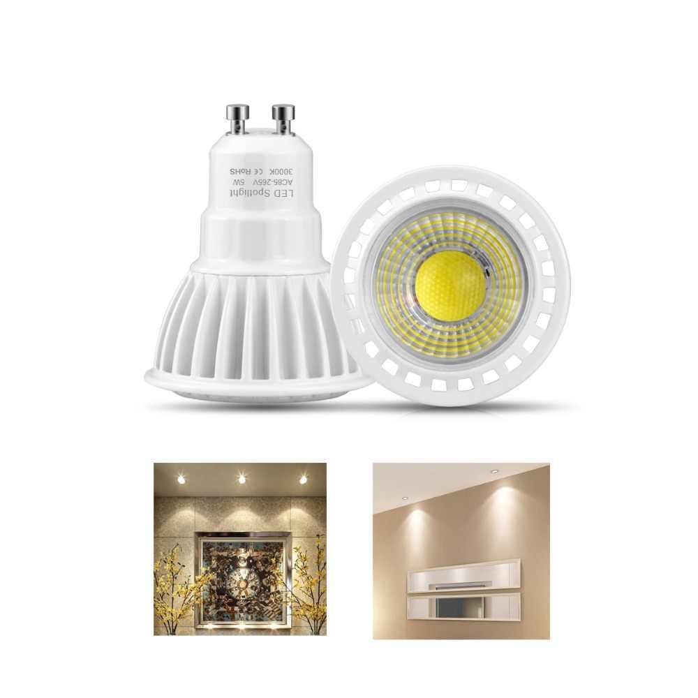 AC85-265V COB GU10 Led Bulbs 3W 5W 7W LED Spot Light Lamp White/Warm Downlight Wall Spotlight Home Lighting Decoration Lamps