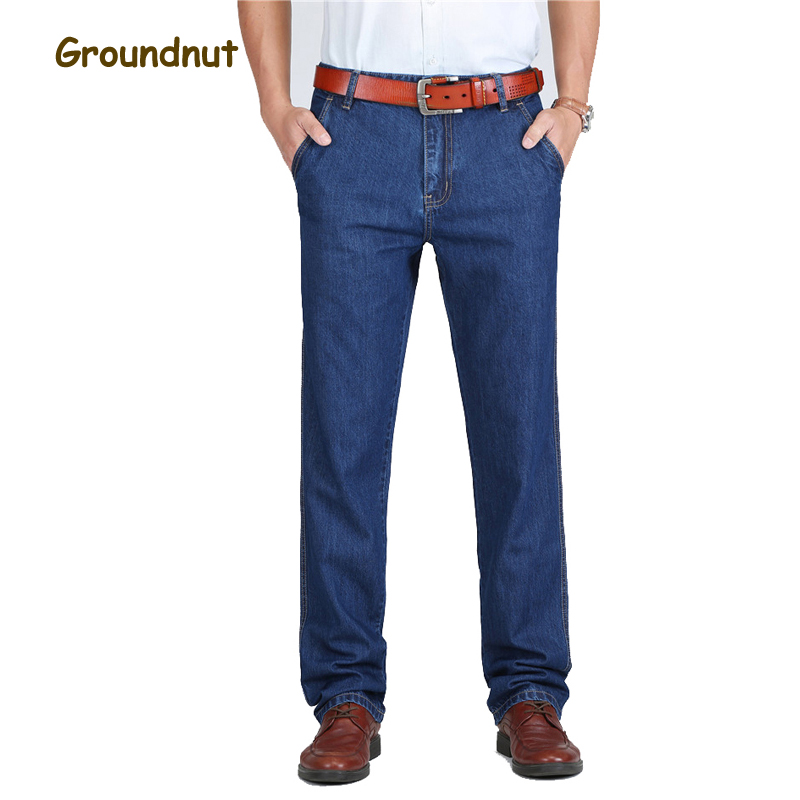 Groundnut Straight Jeans Men Denim Pants Male Trousers