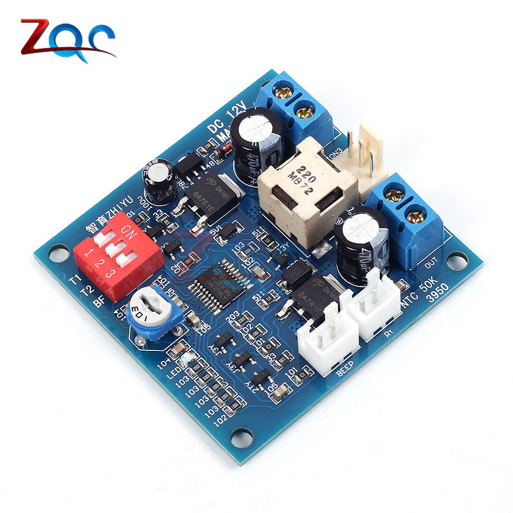 DC 12V 5A PWM PC Fan Temperature Manumotive Speed Controller Module CPU High-Temp Alarm Buzz Board For Arduino Heat Sink dc 12v 5a pwm pc fan temperature manumotive speed controller module cpu high temp alarm with buzz probe for arduino heat sink