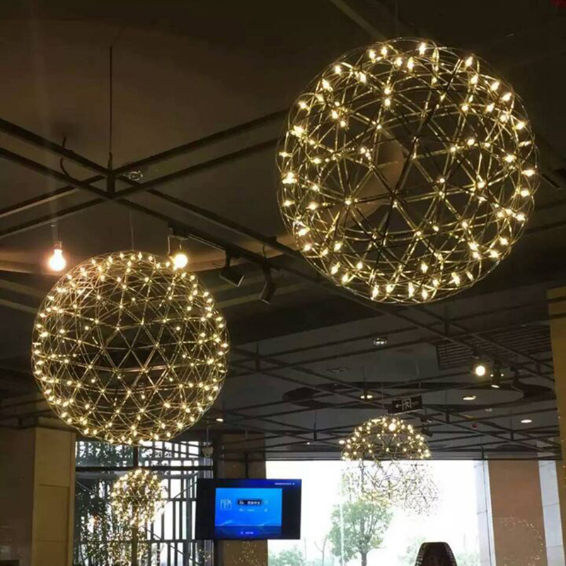 Led firework light Stainless Steel firework ball pendant lights Modern Creative restaurant hotal lighting villa lamps 110V-240V цена