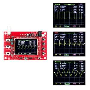 "Image 2 - Osciloscópio digital, dso FNIRSI 138 ""tft kit de osciloscópio digital de bolso kit diy peças portátil + p6100 sonda osciloscópio"