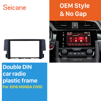 Seicane Exquisite 2Din Car Radio Fascia for 2016 HONDA CIVIC DVD Gps Decorative Frame Audio Cover Stereo Installation