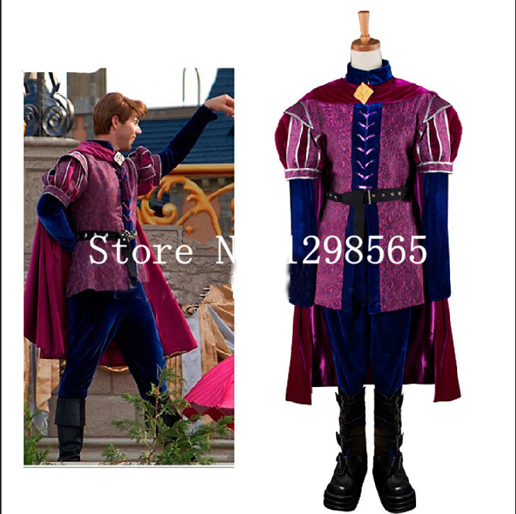 Free Shipping Custom Made Sleeping Beauty Costume Prince Phillip Cosplay Costume