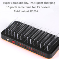 Go2linK Universal 15 Port Phone 100W Multiport Charging Station USB Travel Wall Charger
