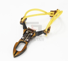 CS32035 Powerful Creative Metal Slingshot Shot Brace Catapult With Rubber Band For Outdoor Hunting Shooting Sports Entertainment