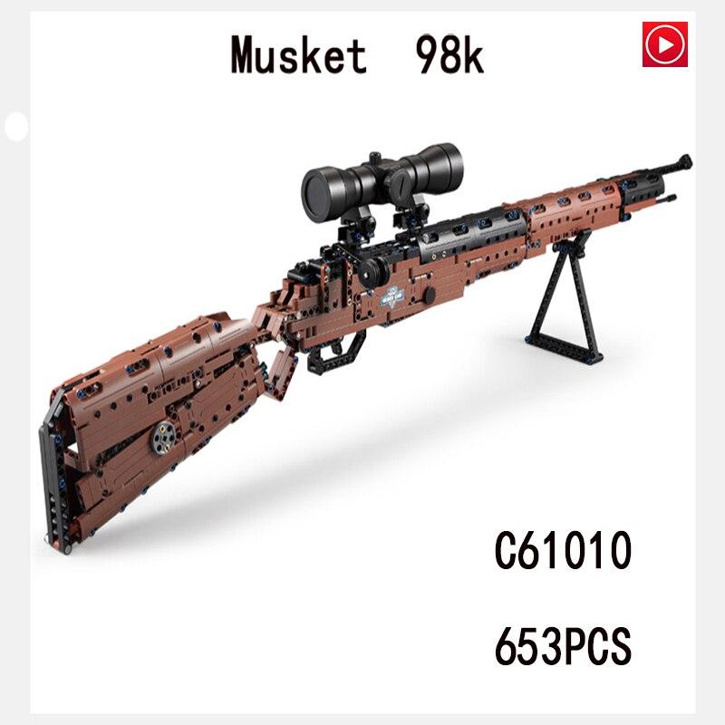 Legoed Jouet Pistolet Lepin Arme Fusils Sniper Fusil 98 K AWM Feu Azimuts Swat Armes À Feu Avec Légèreté Modèle Kit briques jouets enfants Cadeau