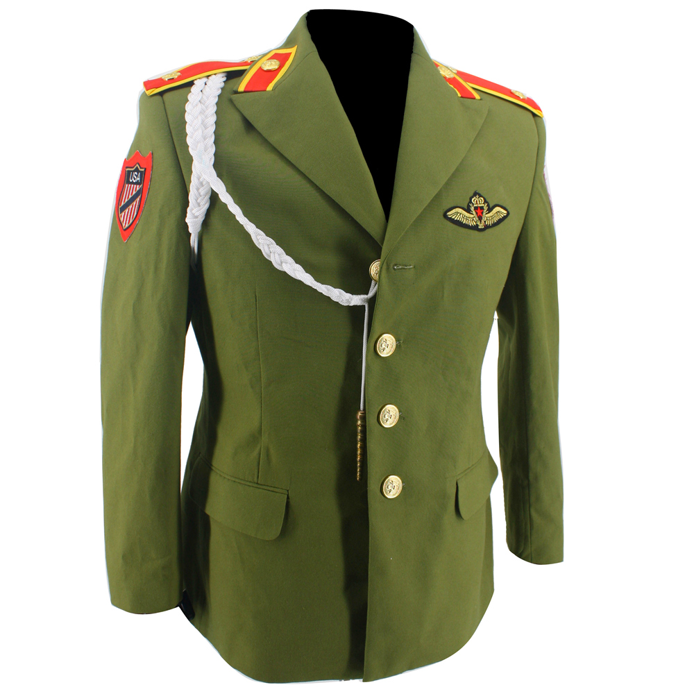 MJ Michael Jackson Retro England Military Green Jacket for World Tour in 1980s