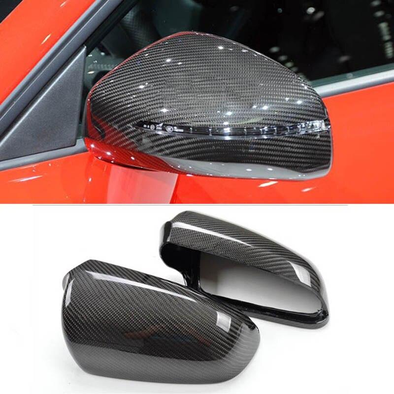 Боковые двери автомобиля зеркала заднего вида углеродного волокна Replacment Обложка для Audi A4 B7 2004 2008