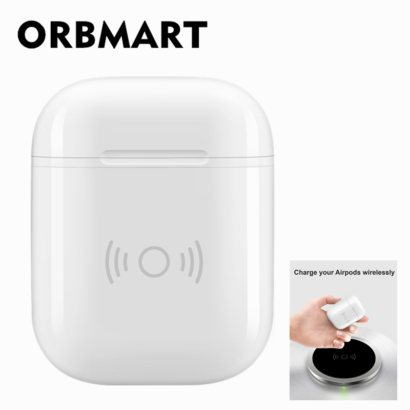 ORBMART Drahtlose Lade Schutzhülle Box Schnelle Ladegerät Für Apple Airpods