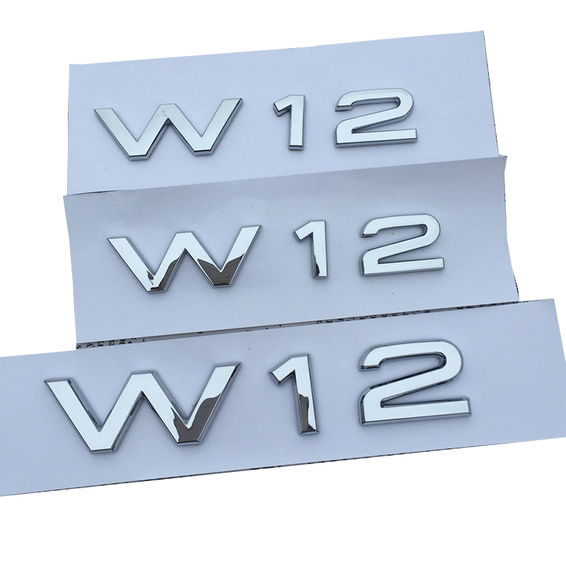 NEW W12 Chrome Silver  Emblem Trunk Fender Badge  For Audi A8