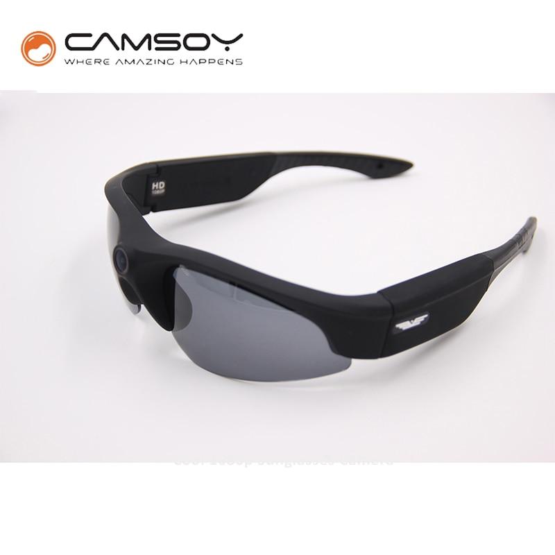 Full HD 1080P Sunglasses Camera Wide Angle 140 Degree Mini DV DVR Digital Video Camera Daily Waterproof  Glasses Camera Mini Cam