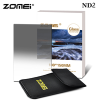 Zomei 150 x 100mm Camera Filter Import Optical Glass Square Gradual Neutral Density ND2 4 8 Filter for Cokin Z DSLR SLR Camera