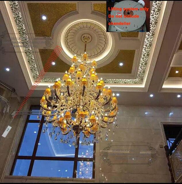 Crystal Chandelier Hoist Lift Lowering System Lighting Lifter Pendant Light Ddj150
