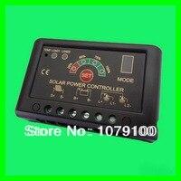 מכירה חמה 12 v / 24 v 10a זיהוי אוטומטי תצוגת כוח 10a solar charge controller