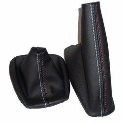Бесплатная доставка, ручная ручка переключения передач для автомобиля, манжеты ручного тормоза, черные кожаные ботинки для BMW 3 серии E36 E46 M3, ...
