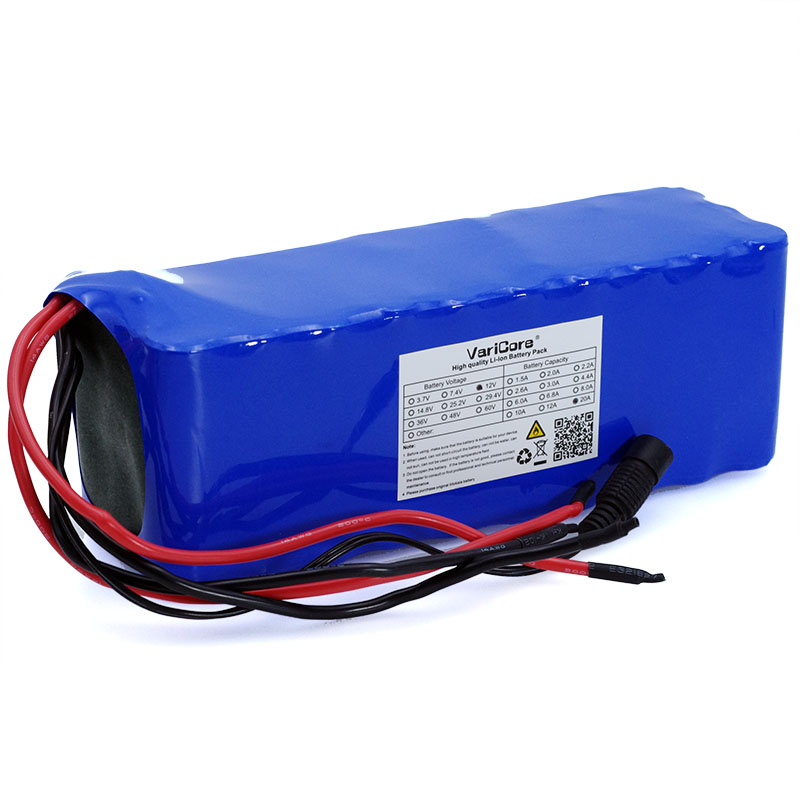 Image 2 - VariCore 12V 20Ah 18650 Lithium Battery Pack 11.1v 12.6v 20000mah Capacity Miner's Lamp 800W High power Batteries+3A Charger-in Battery Packs from Consumer Electronics