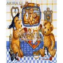 5D Diamond painting cartoon DIY full square beautiful bear cross stitch landscape home decoration gift mosaic
