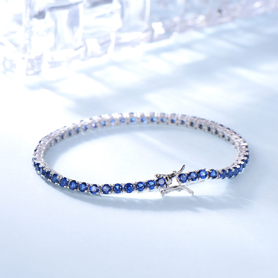 925 sterling silver sapphire bracelet for women (3)