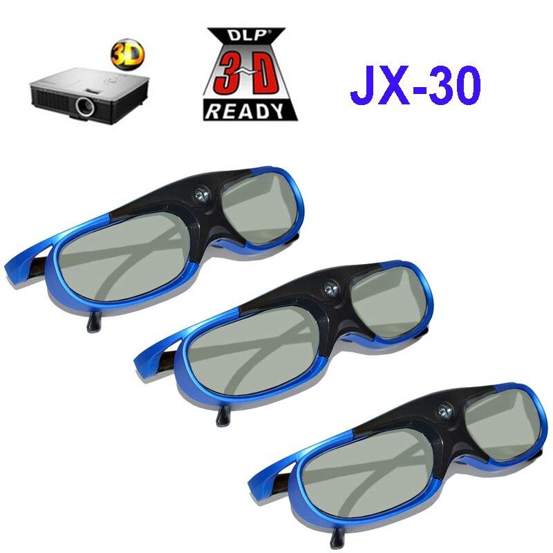 Active Shutter Rechargeables 3D Lunettes Soutien 96 hz/120 hz/144 hz Pour XGIMI Z4X Z5 H1 JmGo g1 G3 X1 BenQ Acer et DLP LIEN Projecteur