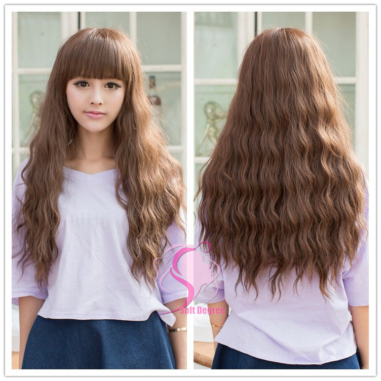 Natural Wavy Hair With Bangs