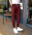 2016 New Men Fashion Casual Harem Pants Elastic Cuff Cotton and Jogger Zipper Pants Men Autumn Sweaterpants