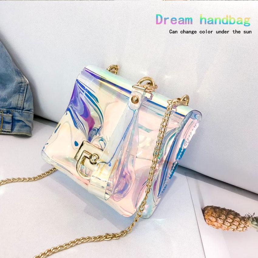 Discoloration Bag Women Candy Colur Handbag Lady Messenger Bag Girls Evening Bag 2018 New Fashion Small Bag