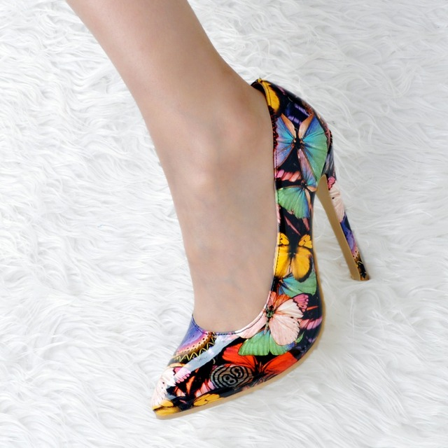 High-Quality Pumps Beautiful Butterfly Pointed Toe Thin Heels Shoes