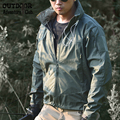 Весна Легкий Тактический Soft Shell Военная Куртка Мужчины Водонепроницаемый Капюшоном Ветровка Одежда Военная Открытом Воздухе Армия Куртка