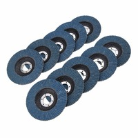 10pcs Premium Zirconia Flap Sanding Grinding Disc Wheel 4 1 2 7 8 60 Grit For