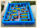 large outdoor labyrinth games inflatable maze toys for sale